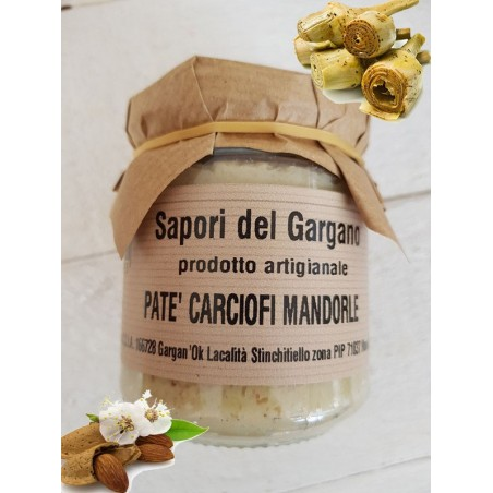 PATE' CARCIOFI E MANDORLE 180 gr