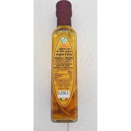 Olio Extra vergine d'oliva al'arancia e zenzero