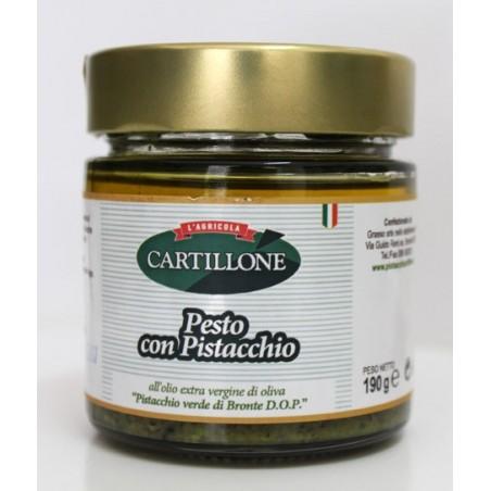 Pesto con Pistacchio VERDE DI BRONTE D.O.P. in olio extravergine di oliva