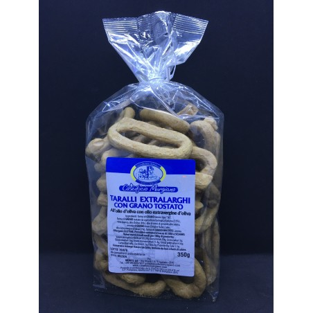 Taralli artigianali con grano tostato 350gr